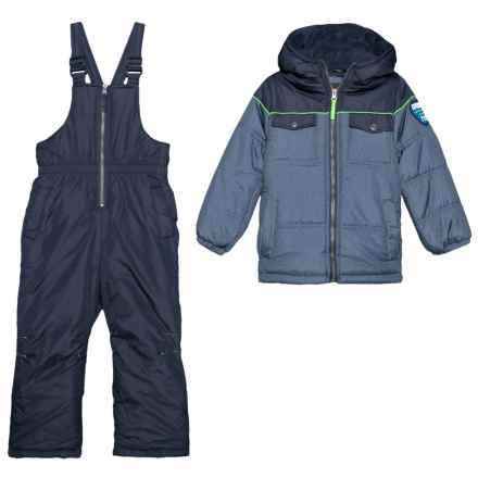 iXtreme Textured Multi Pocket Snow Jacket and Pants Set (For Little Boys) in Navy - Closeouts