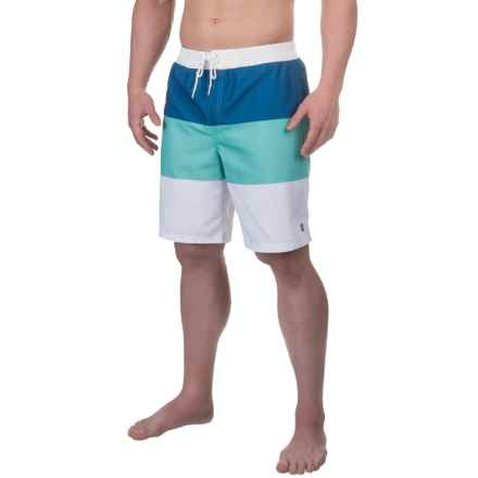 IZOD Boardshorts - UPF 50 (For Men) in 23 Blue Radiance - Closeouts