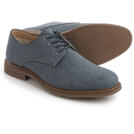 IZOD Chad-F Plain-Toe Derby Shoes (For Men) in Blue Linen