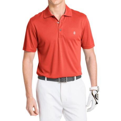 IZOD Champion Solid Grid Polo Shirt UPF 20 Short Sleeve For Men