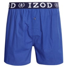Izod Collegiate Woven Boxers - Low Rise, Cotton (For Men) in China Blue - Closeouts