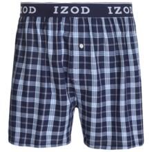 IZOD Collegiate Woven Boxers - Low Rise, Cotton (For Men) in Empire Blue - Closeouts