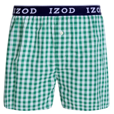 Izod Collegiate Woven Boxers - Low Rise, Cotton (For Men) in Lily Pad