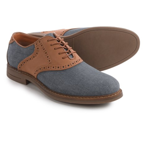 IZOD Conaway Saddle Oxford Shoes (For Men) in Navy Linen/Tan