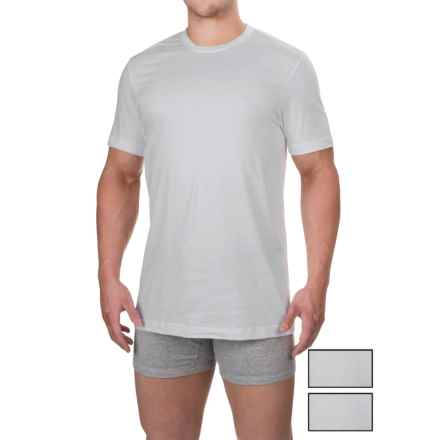 IZOD Cotton Crew T-Shirts - 3-Pack, Short Sleeve (For Men) in White - Closeouts