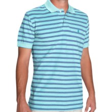 IZOD Feeder Stripe Polo Shirt - Short Sleeve (For Men) in Blue Radiance - Closeouts