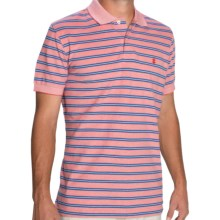 IZOD Feeder Stripe Polo Shirt - Short Sleeve (For Men) in Cranberry - Closeouts