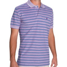 IZOD Feeder Stripe Polo Shirt - Short Sleeve (For Men) in Dahlia Purple - Closeouts