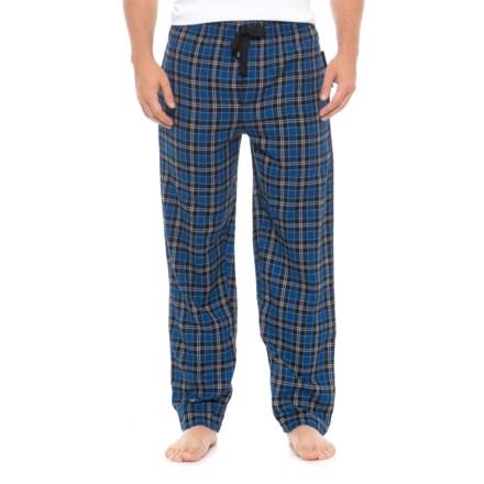 7f6e94775f IZOD Flannel Lounge Pants (For Men) in Blue Check - Closeouts