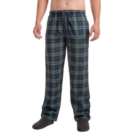 IZOD Flannel Sleep Pants (For Men) in Blue/Green