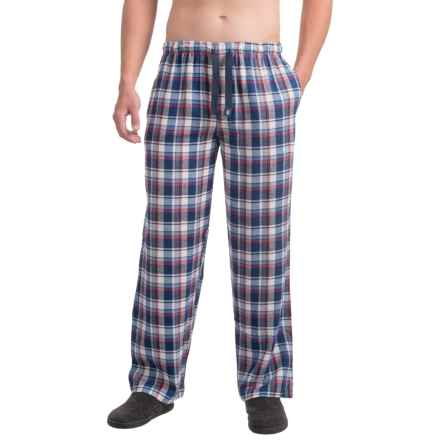 IZOD Flannel Sleep Pants (For Men) in Blue/Red - Closeouts
