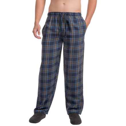 IZOD Flannel Sleep Pants (For Men) in Dark Blue - Closeouts