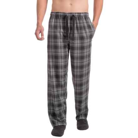 IZOD Flannel Sleep Pants (For Men) in Grey - Closeouts