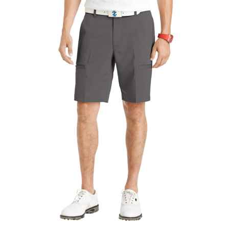 IZOD Herringbone Cargo Golf Shorts (For Men) in Asphalt - Closeouts