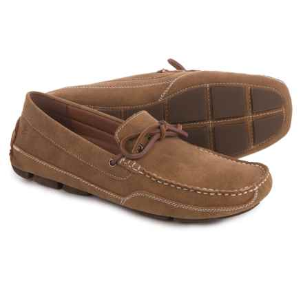 Izod IZOD Burton Loafers - Vegan Leather (For Men) in Tan Semi Suede - Closeouts