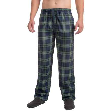 Izod IZOD Flannel Sleep Pants (For Men) in Blue/Green - Closeouts