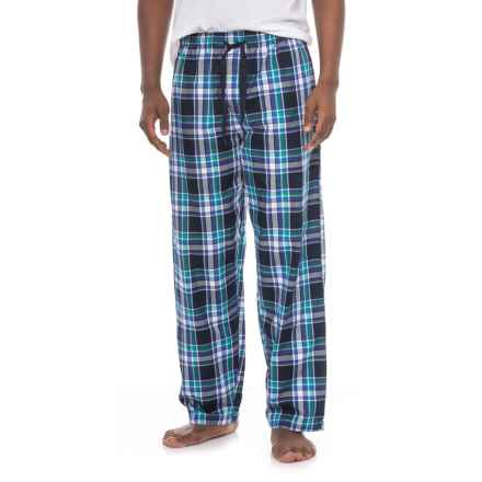 Izod IZOD Yarn-Dyed Woven Lounge Pants (For Men) in Navy Plaid - Closeouts
