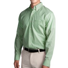 IZOD Mini Check Shirt - Long Sleeve (For Men) in Seacrest - Closeouts