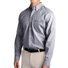 IZOD Mini Check Shirt - Long Sleeve (For Men) in Zeus Navy - Closeouts