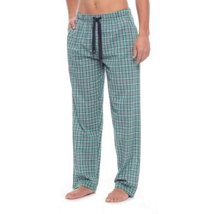 IZOD Plaid Broadcloth Lounge Pants (For Men) in Green - Closeouts