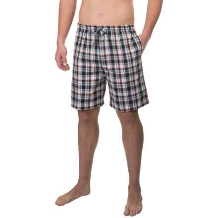 IZOD Plaid Jams Shorts (For Men) in Black/Orange Plaid - Closeouts