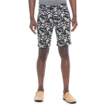 IZOD Printed Stretch Twill Shorts (For Men) in Grey Camo - Overstock