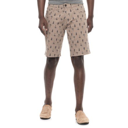 c582378085d61 IZOD Printed Stretch Twill Shorts (For Men) in Khaki/Seahorse - Overstock