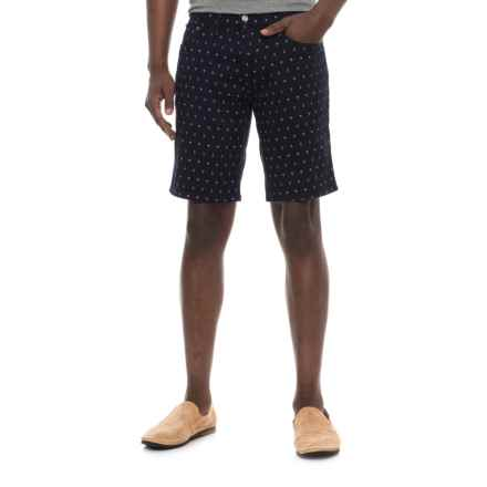 IZOD Printed Stretch Twill Shorts (For Men) in Navy/Palm Tree - Overstock