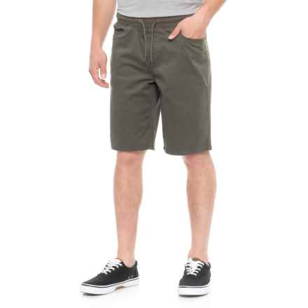 IZOD Pull-On Stretch Twill Shorts (For Men) in Olive - Overstock
