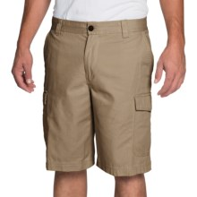 IZOD Saltwater Solid Cargo Shorts (For Men) in Cedarwood Khaki - Closeouts