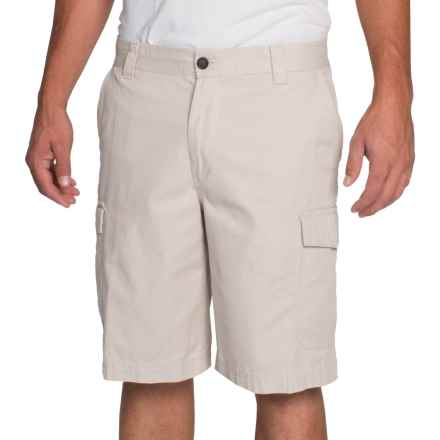 IZOD Saltwater Solid Cargo Shorts (For Men) in Stone - Closeouts