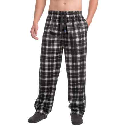 IZOD Silky Fleece Sleep Pants (For Men) in Black - Closeouts