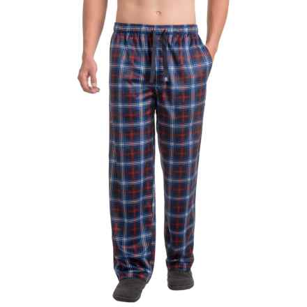 IZOD Silky Fleece Sleep Pants (For Men) in Blue/Red - Closeouts