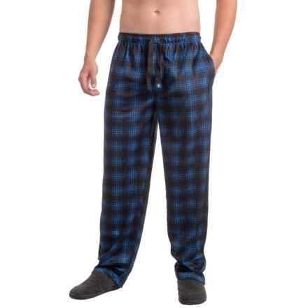 IZOD Silky Fleece Sleep Pants (For Men) in Oxford Blue/Black - Closeouts