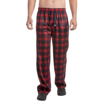 IZOD Silky Fleece Sleep Pants (For Men) in Red/Blue - Closeouts