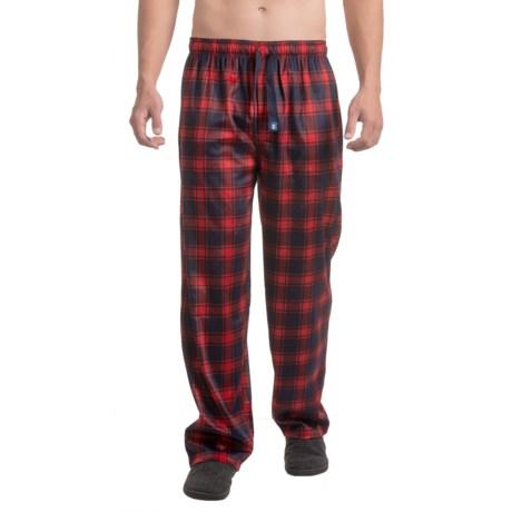 IZOD Silky Fleece Sleep Pants (For Men) in Red/Blue