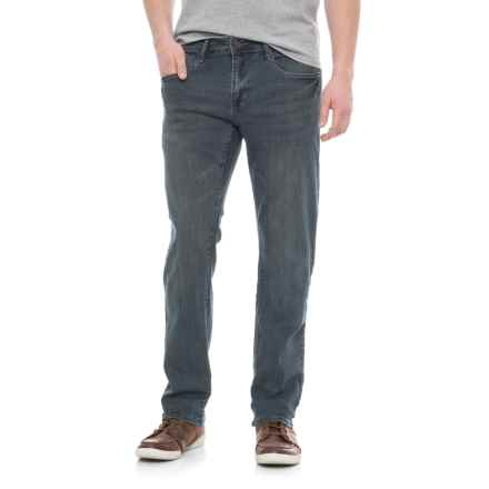 IZOD Slim Fit Stretch Denim Jeans - Straight Leg (For Men) in Jet Blue - Overstock