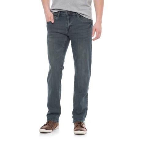 IZOD Slim Fit Stretch Denim Jeans - Straight Leg (For Men) in Jet Blue