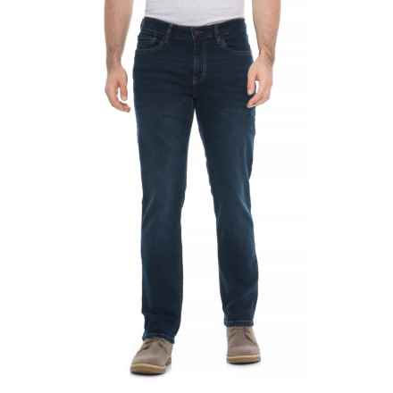 IZOD Slim Straight Jeans - Straight Leg (For Men) in Deep Blue - Overstock