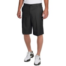 IZOD Solid Microfiber Golf Shorts - UPF 50+ (For Men) in Caviar - Closeouts