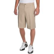 IZOD Solid Microfiber Golf Shorts - UPF 50+ (For Men) in Khaki - Closeouts