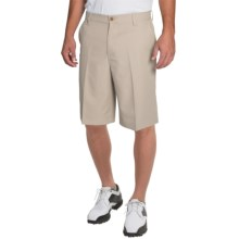 IZOD Solid Microfiber Golf Shorts - UPF 50+ (For Men) in Stonedust - Closeouts