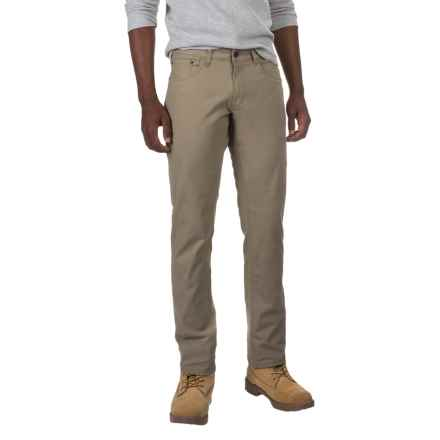 IZOD Stretch Canvas Pants - 5-Pocket (For Men) in Khaki - Closeouts
