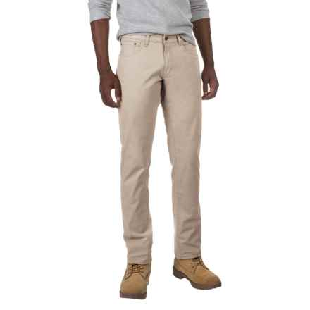 IZOD Stretch Canvas Pants - 5-Pocket (For Men) in Sand Khaki - Closeouts