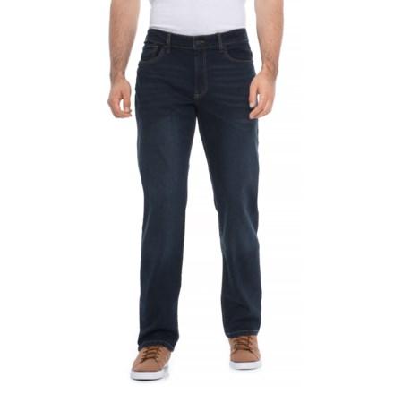 ba0dd5cedd68c IZOD Stretch Denim Straight-Fit Jeans (For Men) in Deep Blue - Overstock