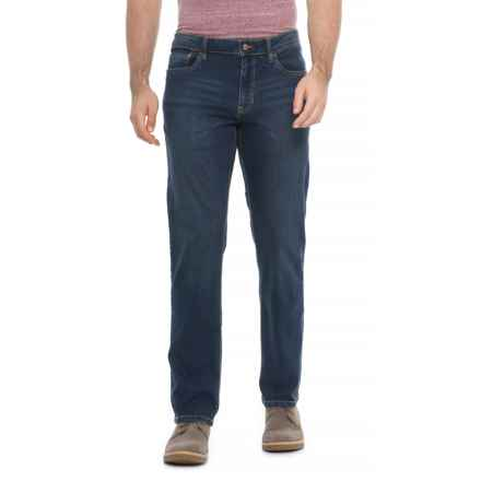 IZOD Stretch Denim Straight-Fit Jeans (For Men) in Sidecar Blue - Overstock