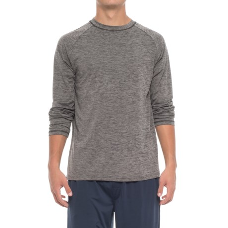 IZOD Sueded Jersey Lounge Shirt - Long Sleeve (For Men) in Charcoal