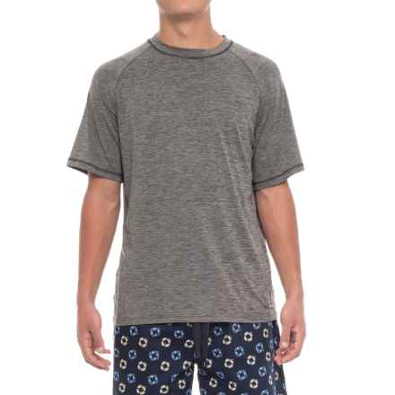 IZOD Sueded Jersey Lounge Shirt - Short Sleeve (For Men) in Charcoal - Closeouts