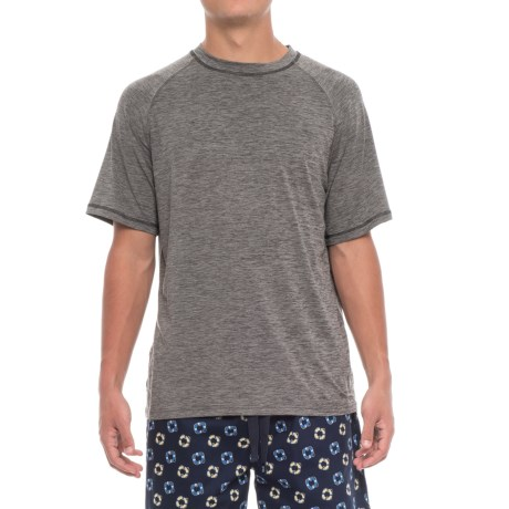 IZOD Sueded Jersey Lounge Shirt - Short Sleeve (For Men) in Charcoal