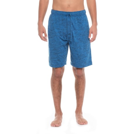 IZOD Tiger Heather Knit Sleep Shorts (For Men) in Navy